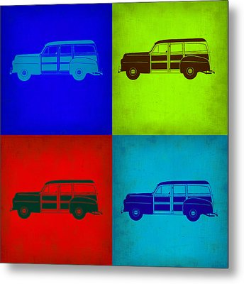 Woody Wagon Pop Art 1 Metal Print by Naxart Studio