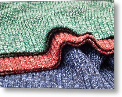 Wool Colors Metal Print by Tom Gowanlock