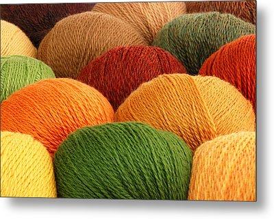 Wool Yarn Metal Print by Jim Hughes