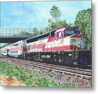Worcester Bound T Train Metal Print by Cliff Wilson
