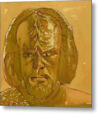 Worf Metal Print