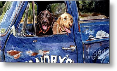Work And Play Metal Print by Molly Poole