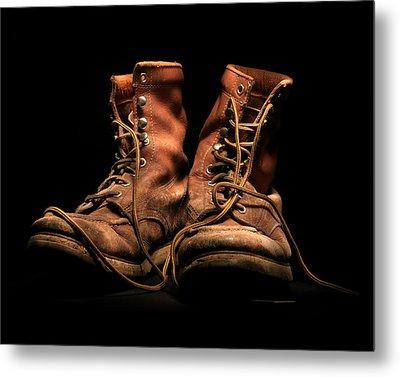 Work Boots Metal Print