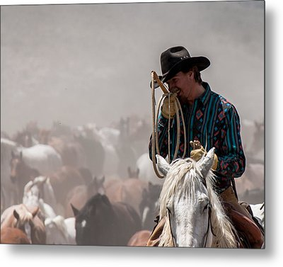 Working Cowboy Metal Print
