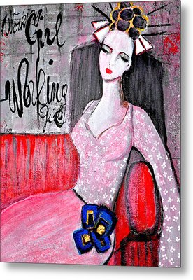 Working Girl Metal Print by Mirko Gallery