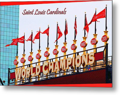 World Champions Flags Metal Print