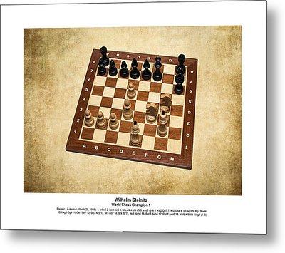 World Chess Champions - Wilhelm Steinitz - 1 Metal Print by Alexander Senin