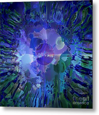 World In A Cell Metal Print by Ursula Freer