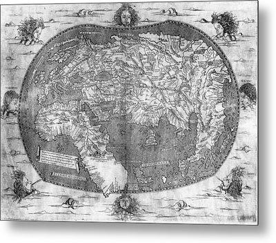 World Map, C1492 Metal Print by Granger
