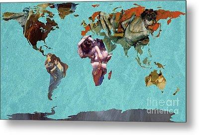 World Map Degas 2 Metal Print by John Clark
