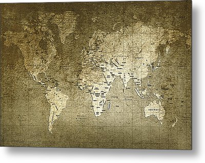 World Map Metal Print