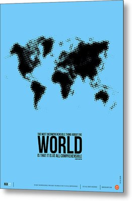 World Map Poster Metal Print