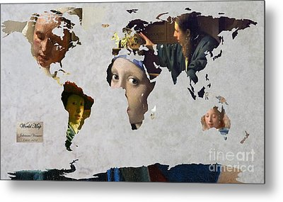 World Map  Vermeer 1 Metal Print by John Clark