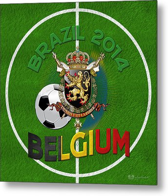World Of Soccer 2014 - Belgium Metal Print by Serge Averbukh