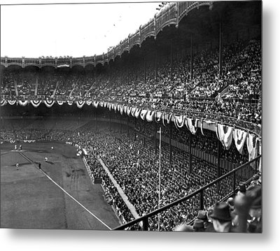 World Series In New York Metal Print by Underwood Archives