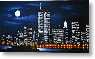 World Trade Center Buildings Metal Print