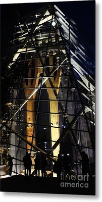 World Trade Center Museum At Night Metal Print