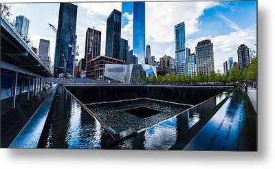 Metal Print featuring the photograph World Trade Center - North Memorial Pool by Chris McKenna