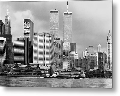 New York City - World Trade Center - Vintage Metal Print by Dave Beckerman