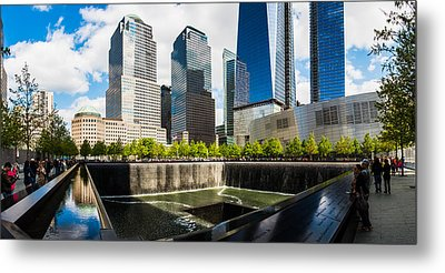 Metal Print featuring the photograph World Trade Center - South Memorial Pool by Chris McKenna