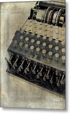 World War II Enigma Secret Code Machine Metal Print by Edward Fielding