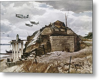World War II: Normandy Metal Print