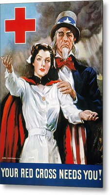 World War II: Red Cross Metal Print