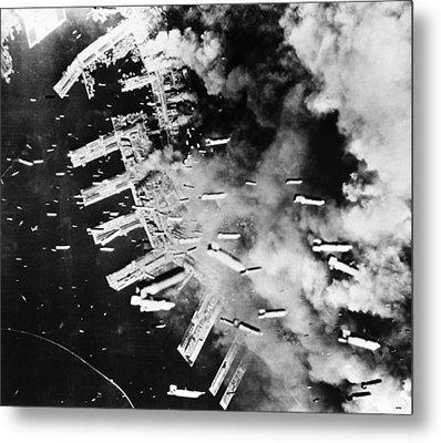World War II: U.s. Air Raid Metal Print