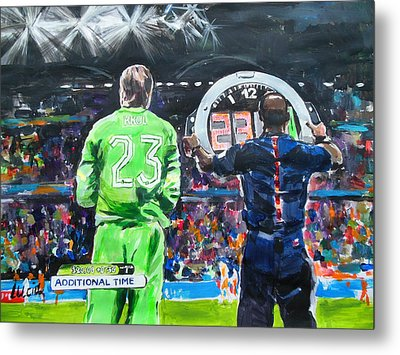 Worldcup 2014 - The Moment Metal Print by Lucia Hoogervorst