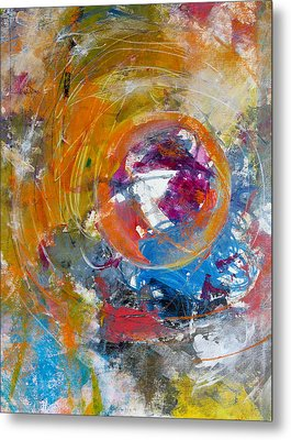 Metal Print featuring the painting Worldly  by Katie Black