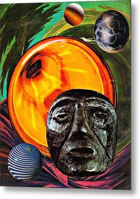 Worlds In Orbit Metal Print by Sarah Loft