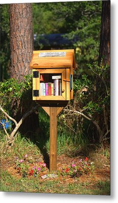 Metal Print featuring the photograph World's Smallest Library by Gordon Elwell