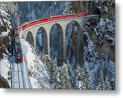 World's Top Train - Bernina Express Metal Print