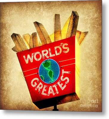 World's Greatest Fries Metal Print