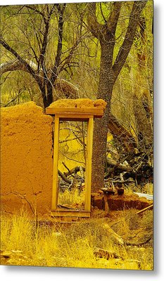 Worn And Weathered Metal Print by Jeff Swan