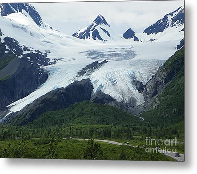 Worthington Glacier Metal Print by Jennifer Kimberly