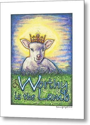 Worthy Is The Lamb Metal Print by Andrea Gray