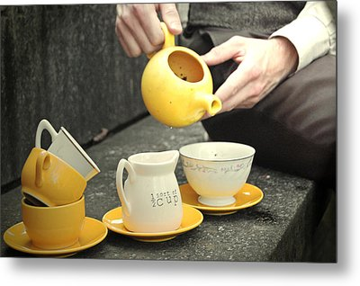 Would You Like A Little More Tea Metal Print by Tracy  Tanner