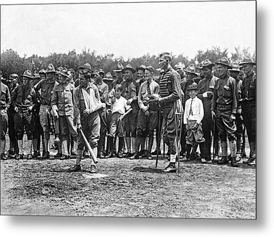 Wounded Soldiers Play Ball Metal Print