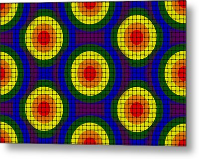 Woven Circles Metal Print by Bartz Johnson