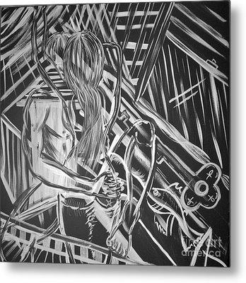 Wrap Sure Rapture Metal Print by Adriana Garces