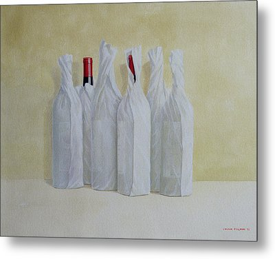 Wrapped Bottles Number 2 Metal Print