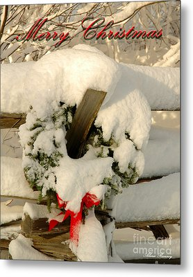 Metal Print featuring the photograph Wreath  by Alana Ranney