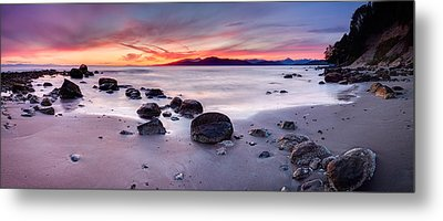 Wreck Beach Panorama Metal Print by Alexis Birkill