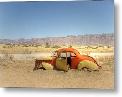 Metal Print featuring the photograph Wreck On The Highway by Juergen Klust