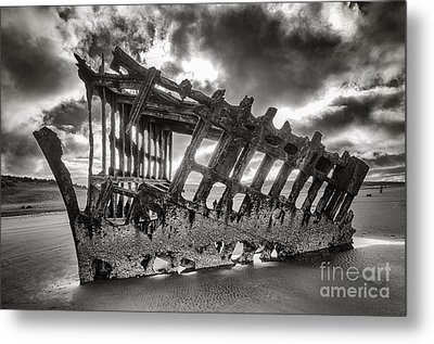 Wreck On The Shore Metal Print