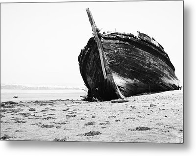 Wreckage On The Bay Metal Print by Marco Oliveira