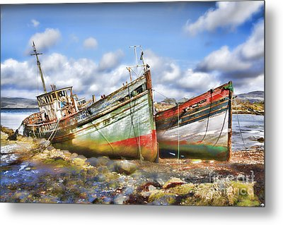 Wrecked Boats Metal Print