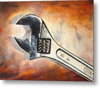 Wrenched Metal Print by Karl Melton