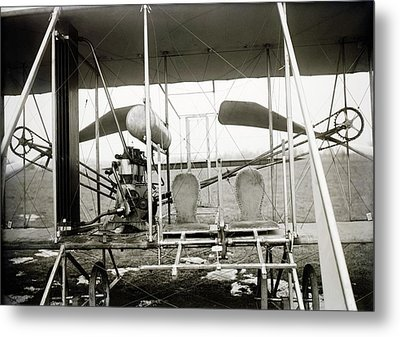 Wright Biplane Engine And Seats Metal Print by Library Of Congress